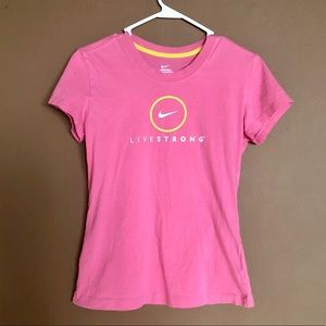 💥3/$20💥 Nike Livestrong Pink T-Shirt